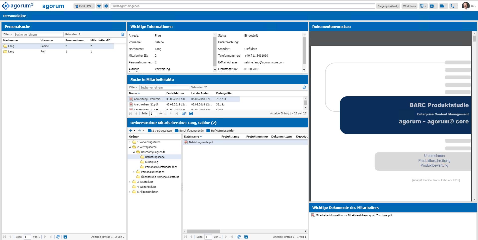 agorum core smart folder dynamische Ordnerstru
