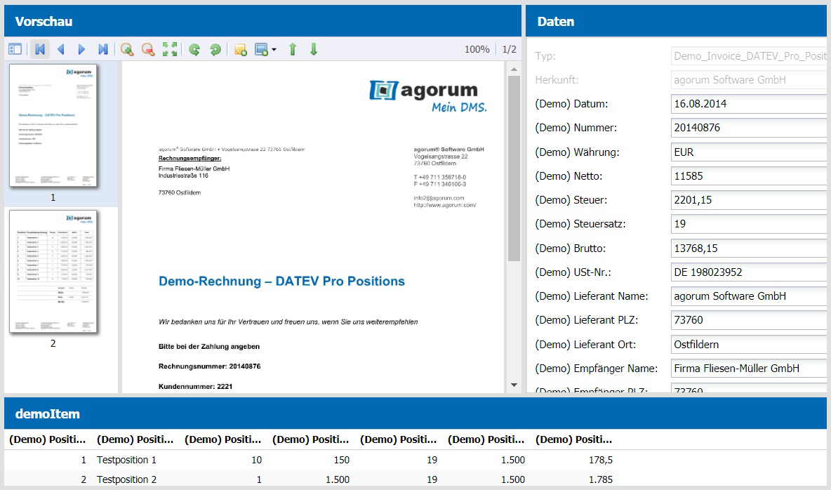 Die praktische Thumbnail-Funktion von agorum® core Preview