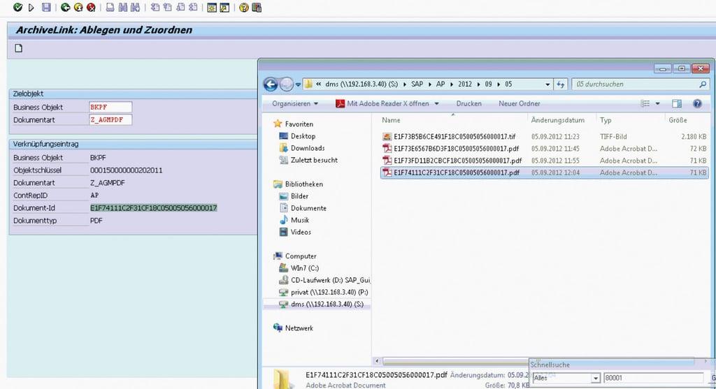 SAP Archive Link