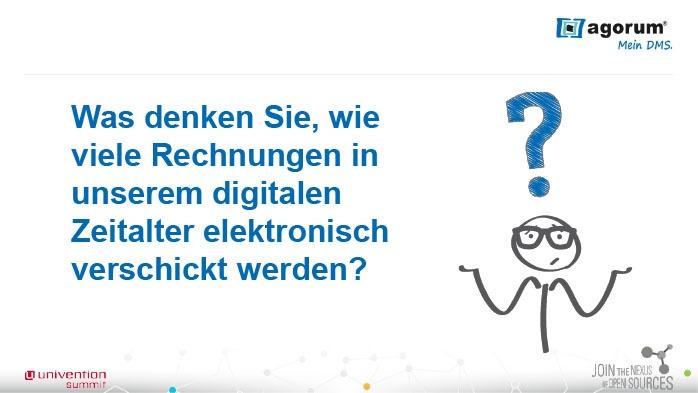 Was denken Sie, wie viele Rechnungen in unserem digitalen Zeitalter elektronisch verschickt werden?