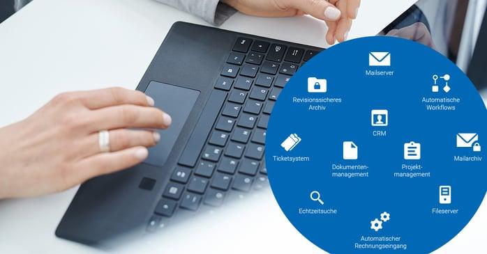 Papierloses Büro Digitalisierung DMS CRM Projektmanagement