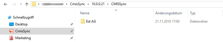 Synchronisierter Ordner im File-Explorer
