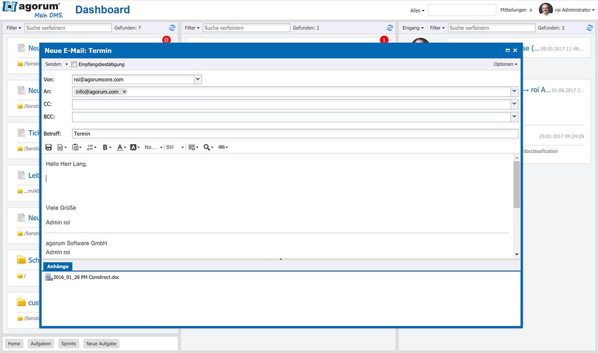 agorum® core E-Mail-Editor