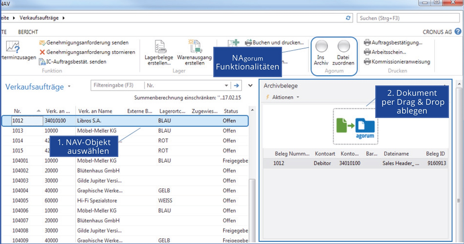 Ritter Technologie integriert agorum® core in Microsoft Dynamics NAV