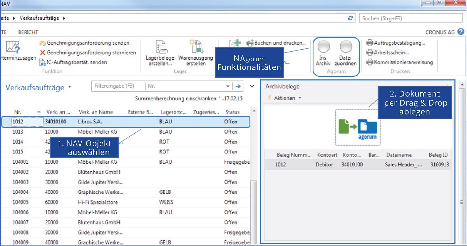 Ritter Technologie integriert agorum® core in Microsoft Dynamics NAV