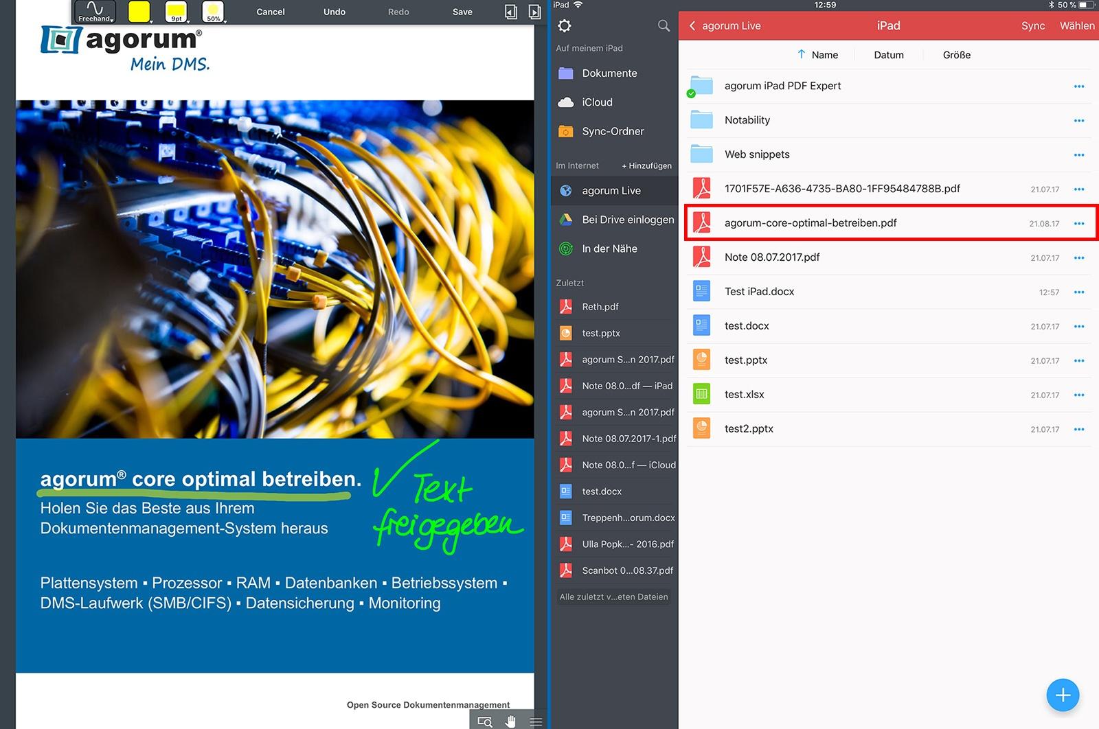 PDFs mit PDF Expert bearbeiten und speichern