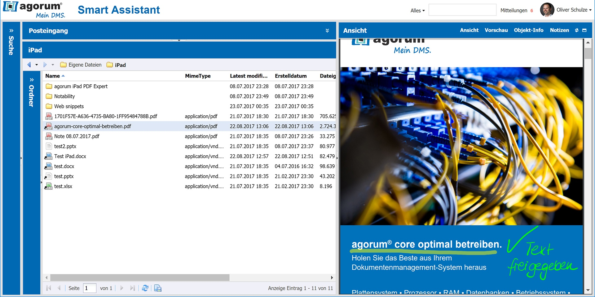 PDFs in agorum® core synchronisiert